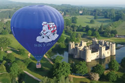 Hot Air Baloon launch at Bodiam Castle