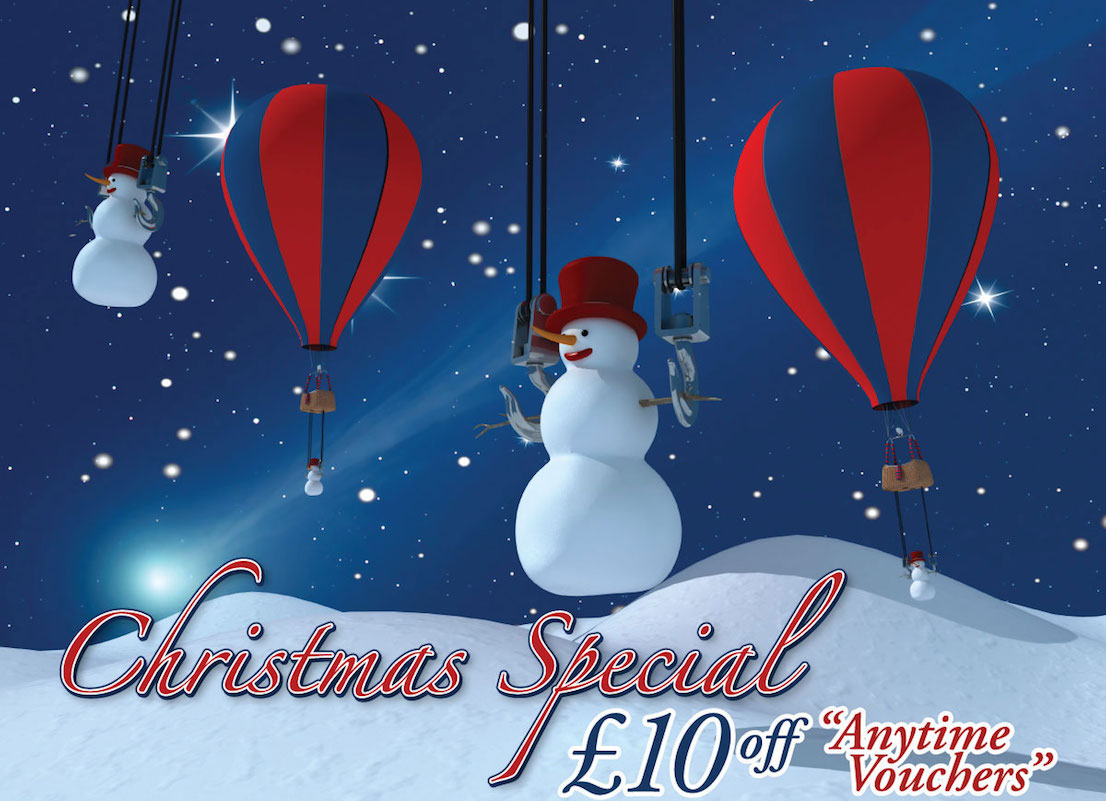 Give a Hot Air Balloon flight with Christmas Special Offers!